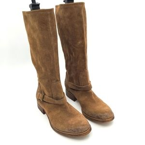 Guess by Marciano Suede Leather Riding Boots
